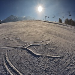 Sun over a chairlift