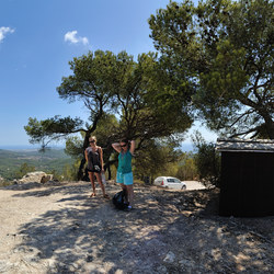 Panorama from highest mountain in Ibiza