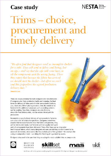 trime, choice procurement and timely delivery