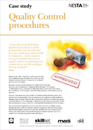 quality control procedures case study