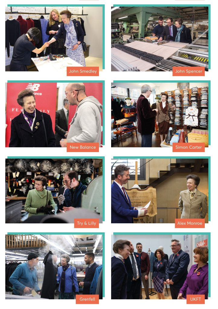 HRH The Princess Royal is a passionate supporter of the UK fashion and textile industry