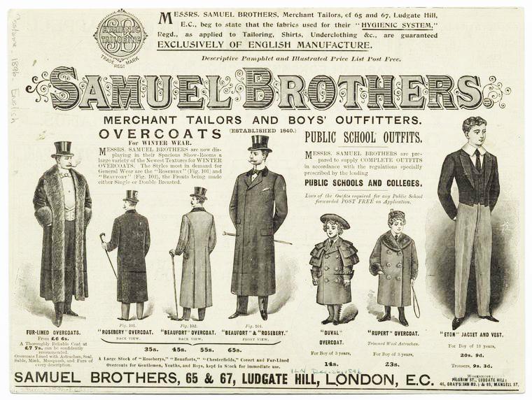 Samuel Brothers advert in 1896