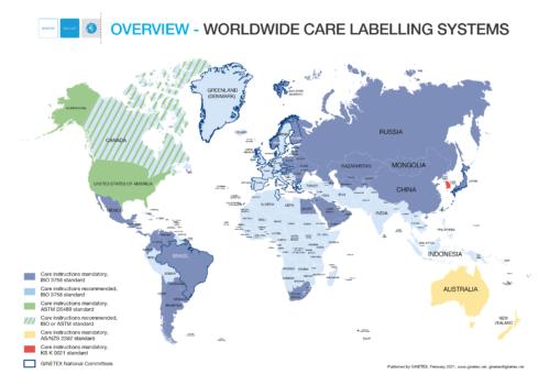 GINETEX World Map
