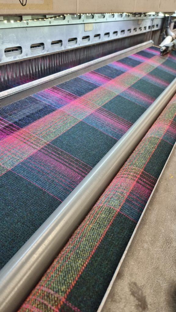 Marton Mills : 100% Wool Tweed range 'Derwent' utilising flecks of bright colours and large scale repeats