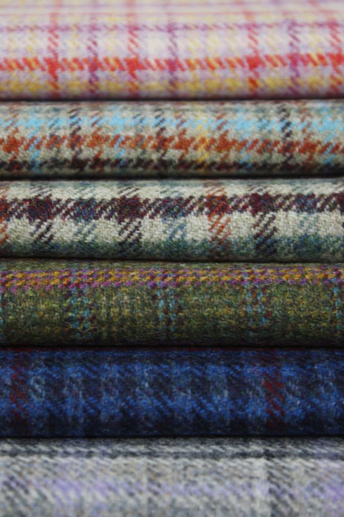 Marton Mills : a selection from their new 100% Wool Tweed range featuring classic heritage checks with a contemporary twist.