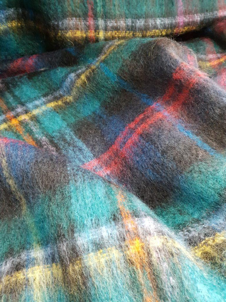 Samuel Tweed : their best selling tartan design 'Malcolm' - recoloured. 64% Mohair 31% Wool 5% Nylon