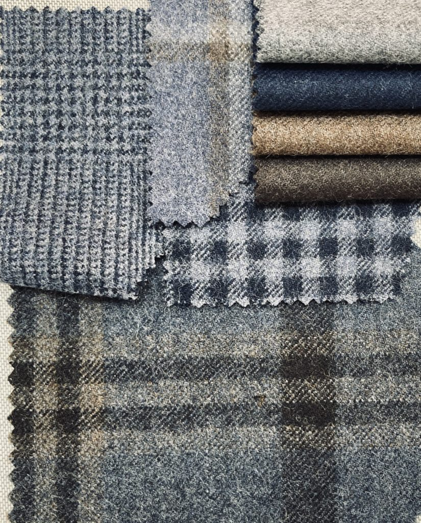 Taylor and Lodge : a selection of new designs in their '2080' 100% wool worsted flannel (420gms) from the Arthur Harrison brand at Taylor & Lodge