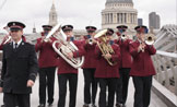 Brass Band playing on bridge