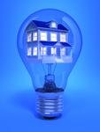 House inside a lightbulb