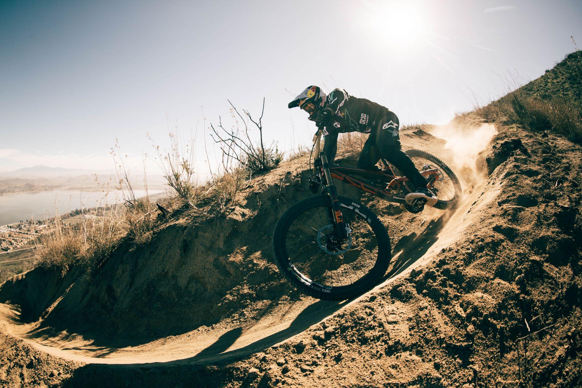 Aaron Gwin riding in California
