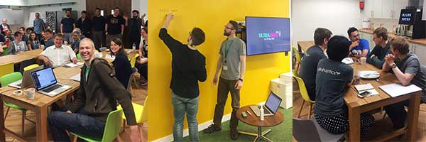 Haptic hacks - teams preparing at Ultrahaptics HQ