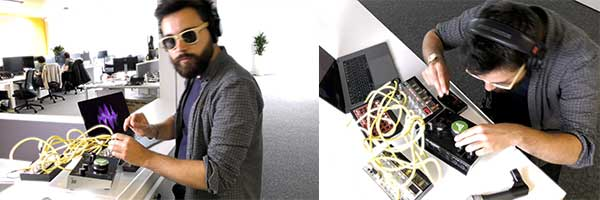 Becoming a DJ with a haptic hack