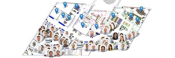 Ultrahaptics hackathon - interactive office map