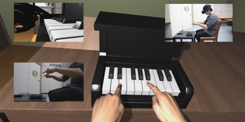 AirPiano, an enhanced music playing system to provide touchable experiences in HMD-based virtual reality with mid-air haptic feedback