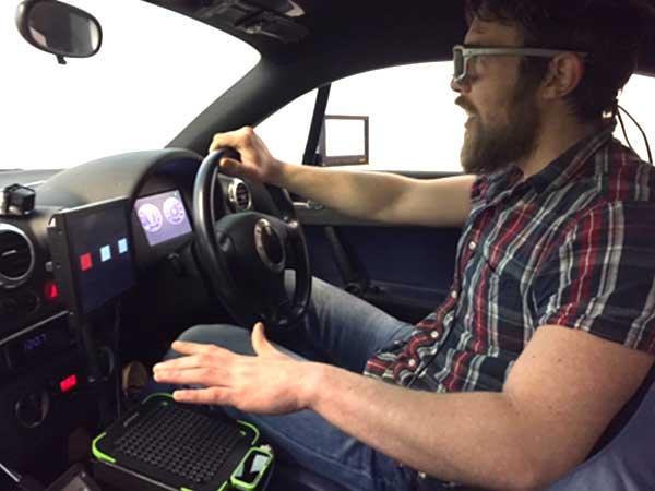 Ultrahaptics haptic feedback technology inside a car
