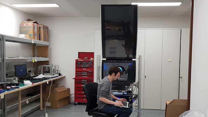 IGT gaming machine in Ultrahaptics lab