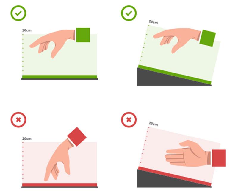 Hand oreientation with Ultrahaptics tehcnology