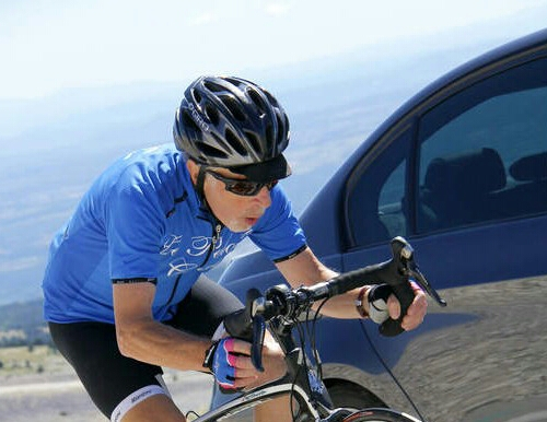 Michael competing in the Mont Ventoux Charity Challenge
