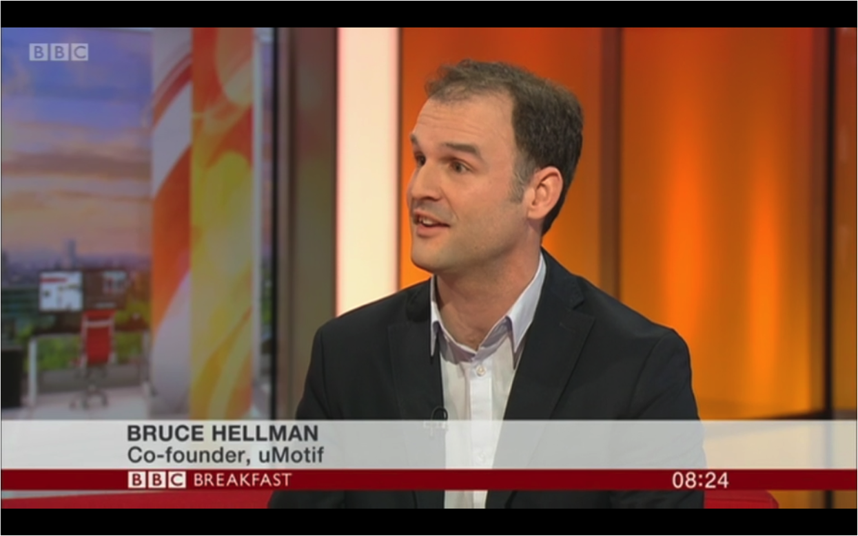 Bruce Hellman, CEO at uMotif, on BBC Breakfast News