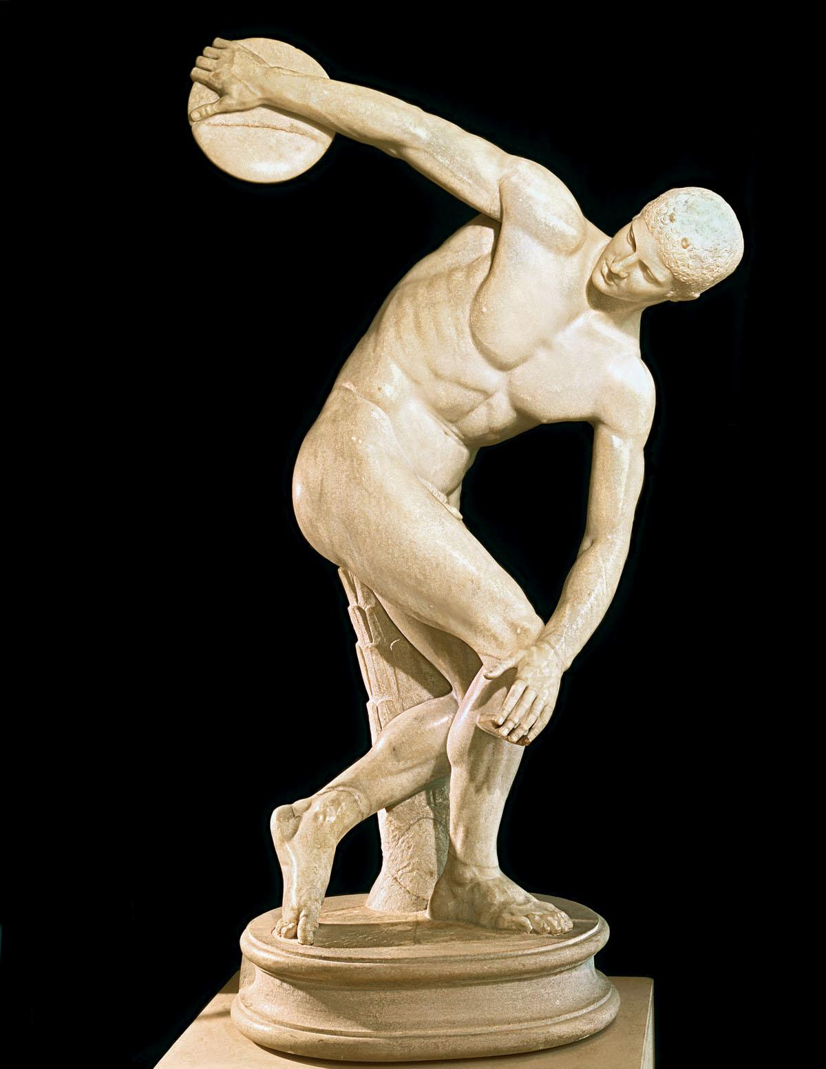 The Discobolus of Myron, a Greek sculpture that inspired 'Arthur'