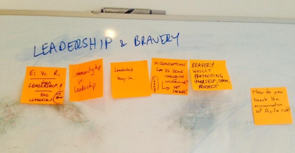 Leadership and bravery