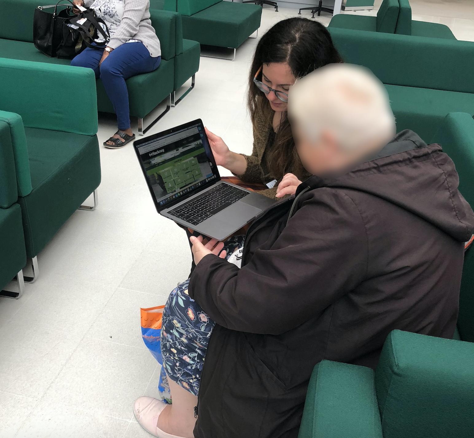 User testing at Hackney Council