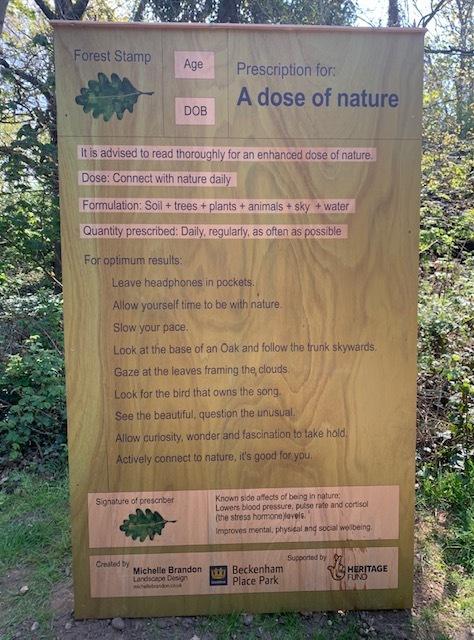 A dose of nature, Beckenham Place Park