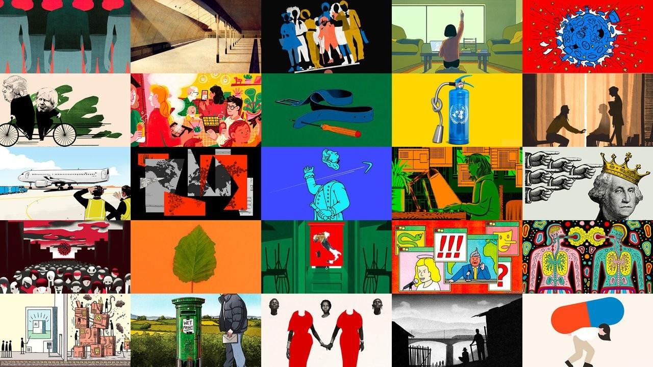 Stories as told through illustrations via The Economist