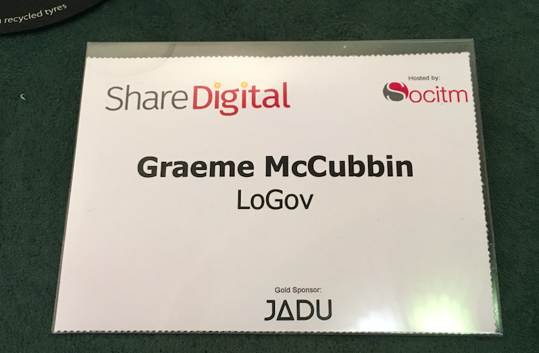 ShareDigital 2016 name badge