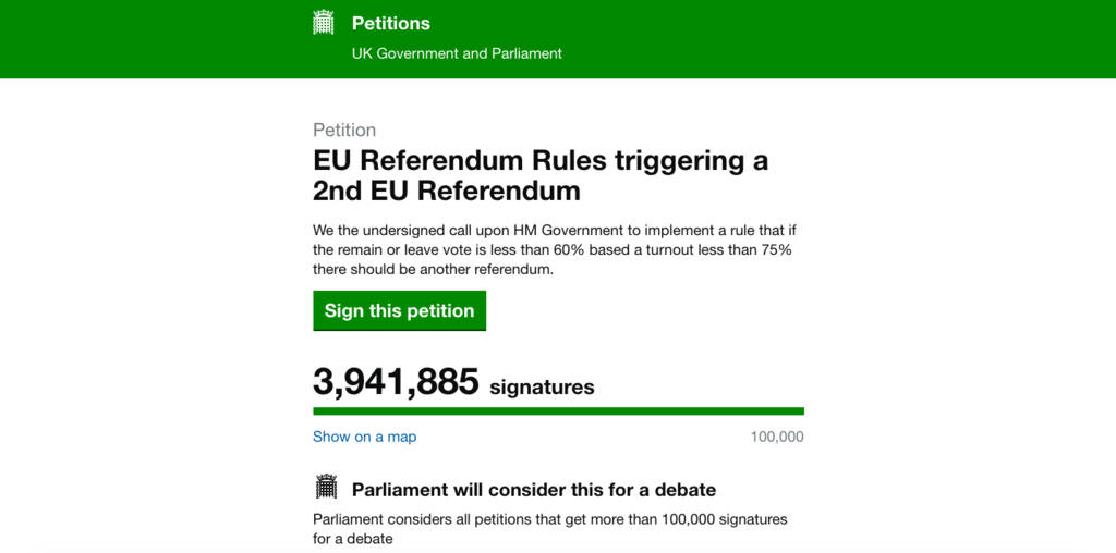 Unboxed News Record Breaking Eu 2nd Referendum Petition Hits 39