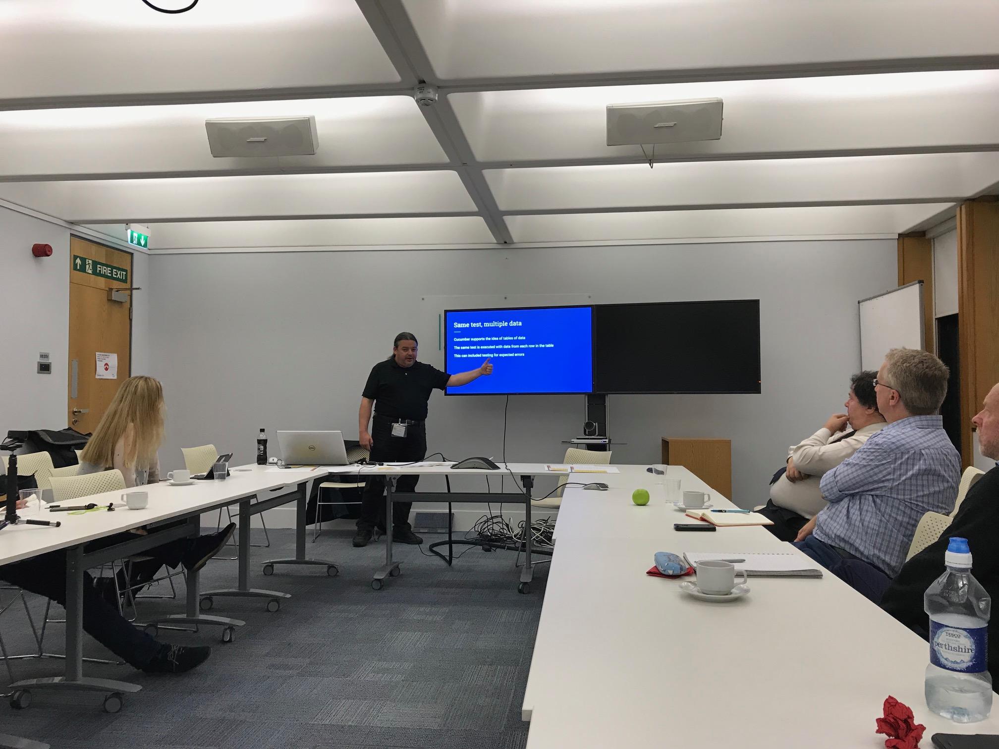 David Durant presenting