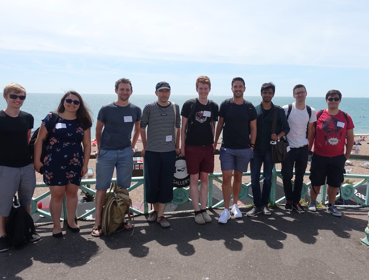 Brighton Ruby 2017 - Unboxed developers on the seafront