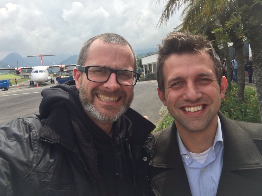 Martyn Evans and Chris Howroyd in Manizales, Colombia