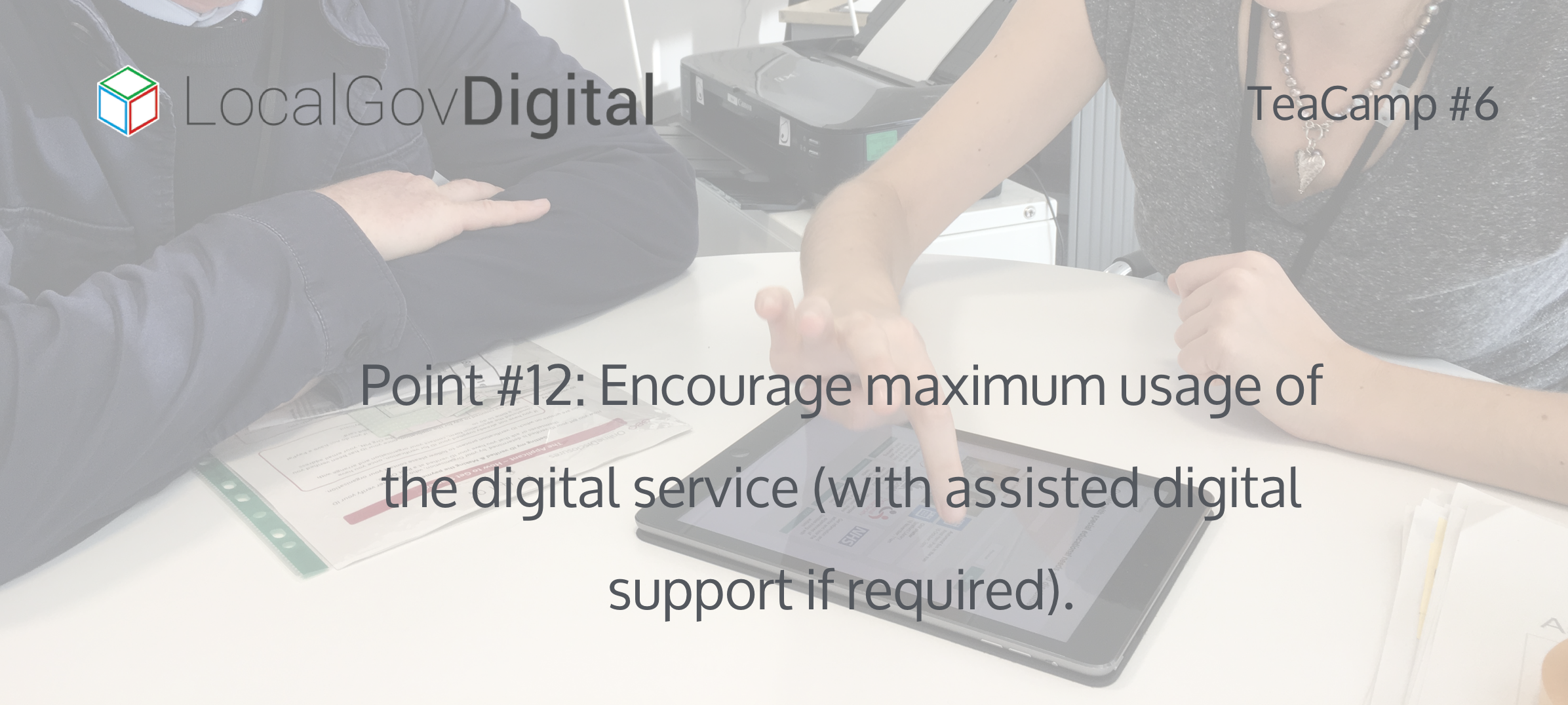Local Government Digital Service Standard 1