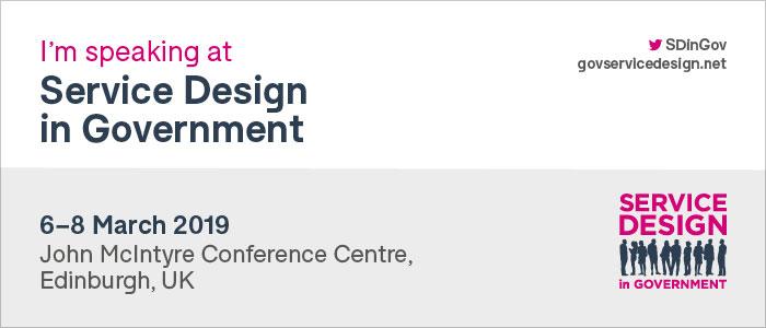 Service Design in Government 2019