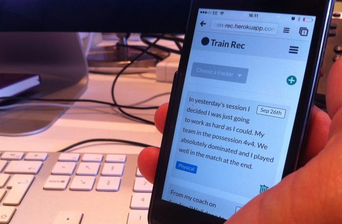 UI prototype on phone