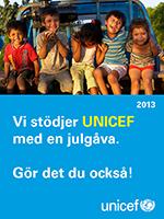 Vi har sk�nkt en g�va till UNICEF