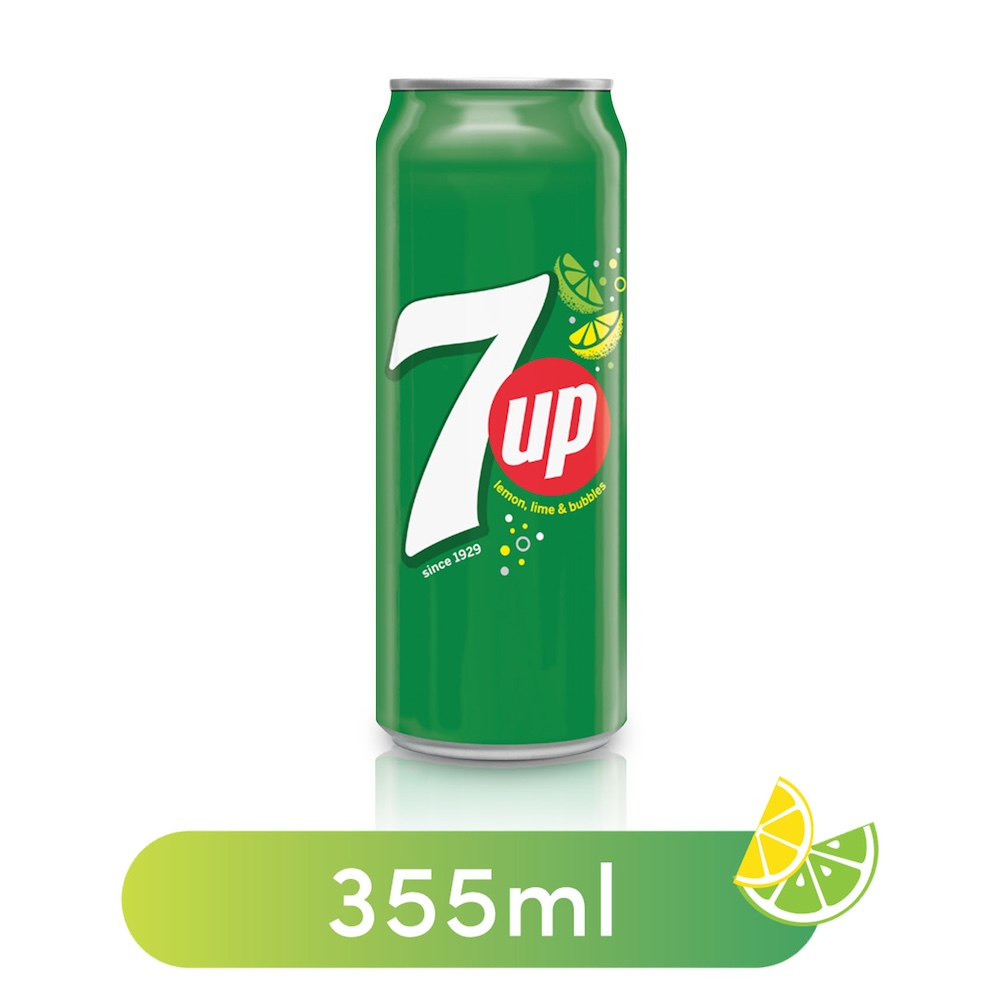 7UP, Carbonated Soft Drink, Can, 355 ml