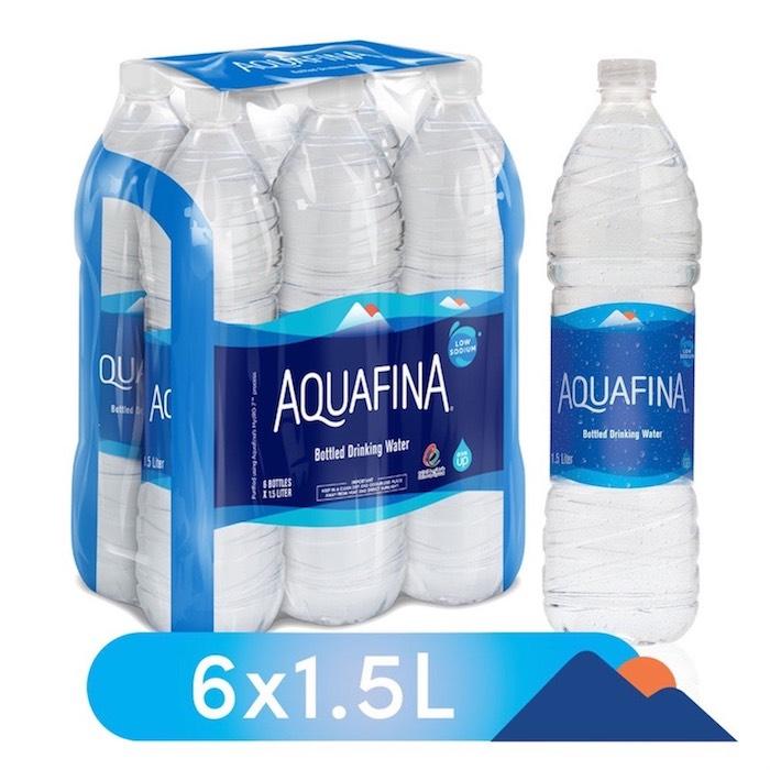 Aquafina Bottled Drinking Water, 6 x 1.5 l