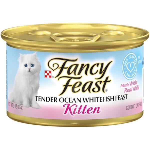 Purina Fancy Feast Kitten Ocean Whitefish Wet Cat Food 85g, 24 Pcs