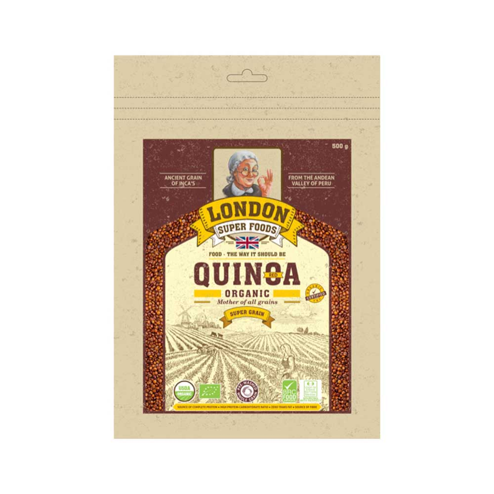 London Super Food Quinoa Red : Grains : Organic, 500 gm