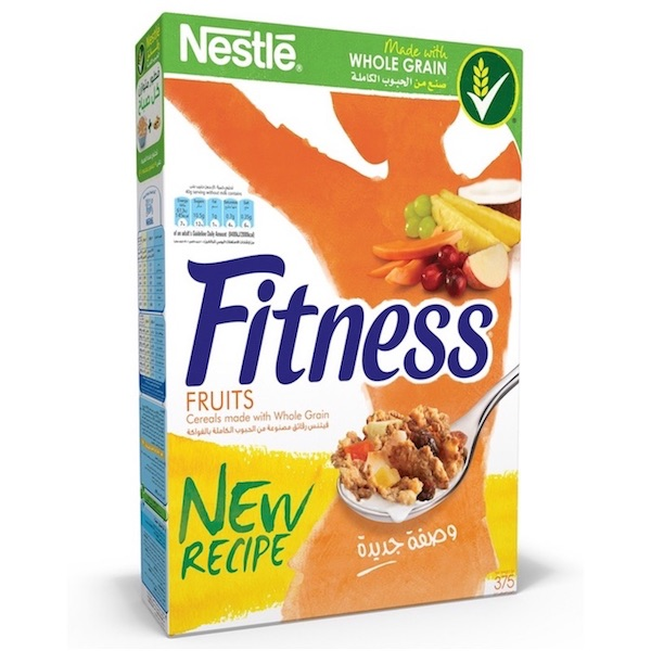 Nestle Fitness Fruits Breakfast Cereal 16 X 375g, 16 Pcs