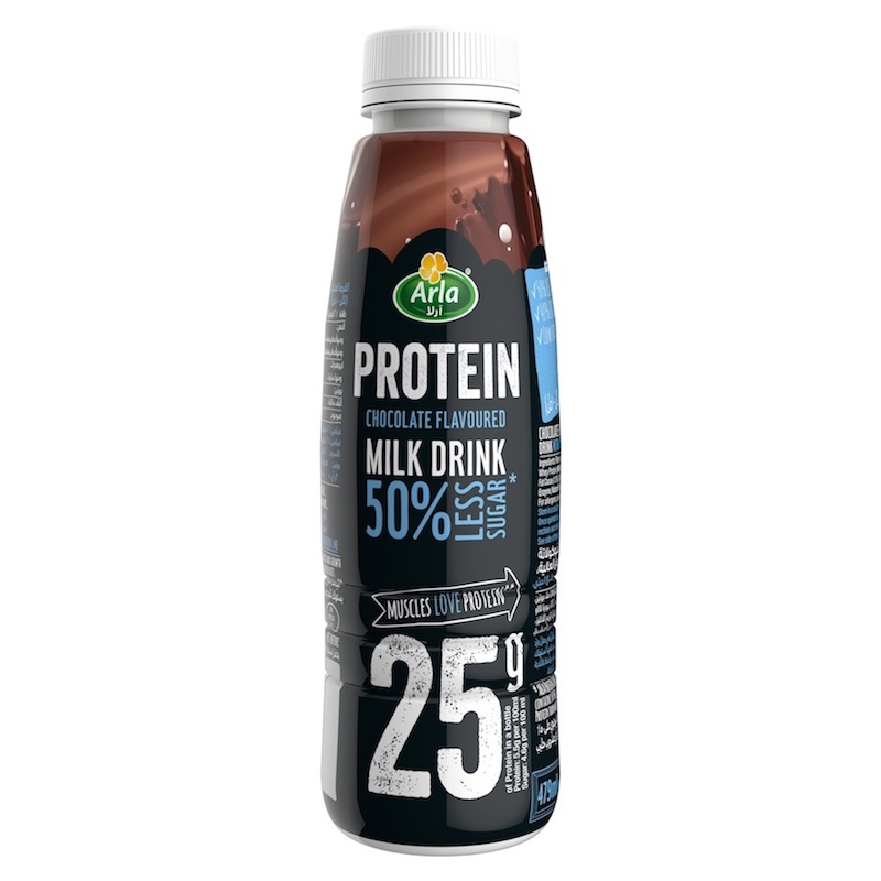 Arla Protein 50% Less Sugar Chocolate Flavoured Protein Milk Drink 479ml