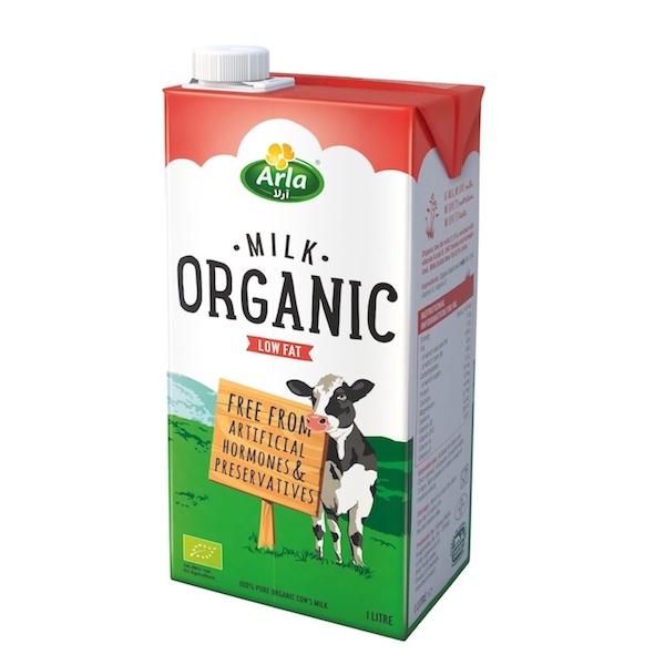 Arla Organic Low Fat Milk 1L