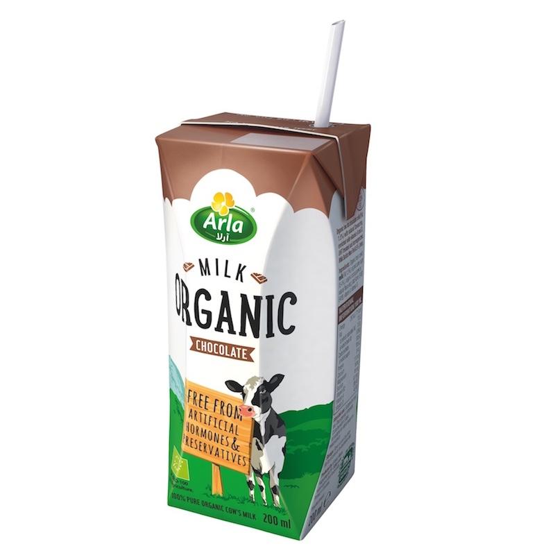 Arla Organic Chocolate Flavored Milk - 200 ml