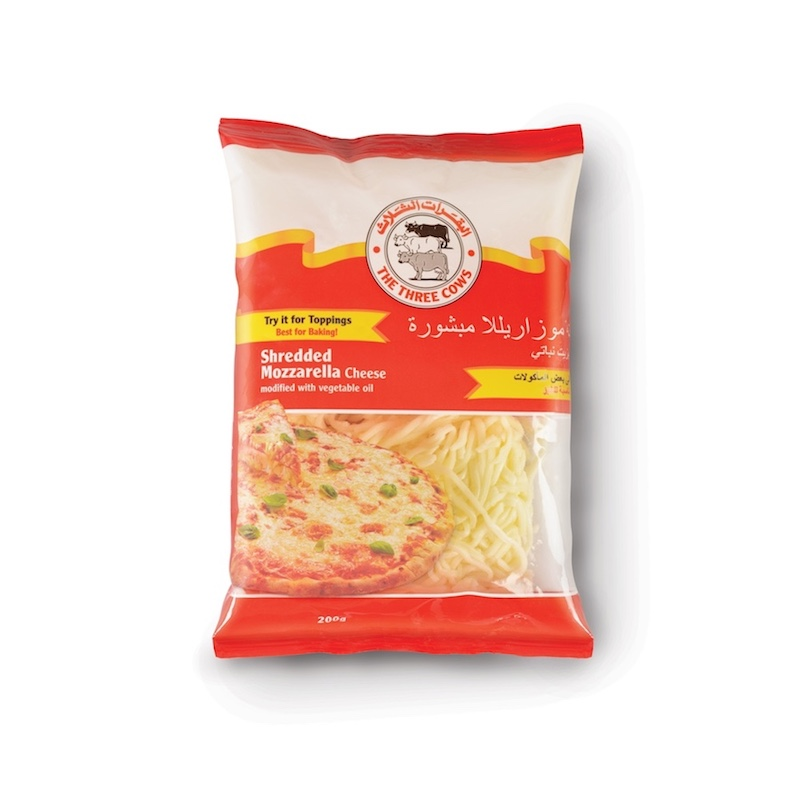 The Three Cows TTC Shredded Mozzarella Cheese 200g