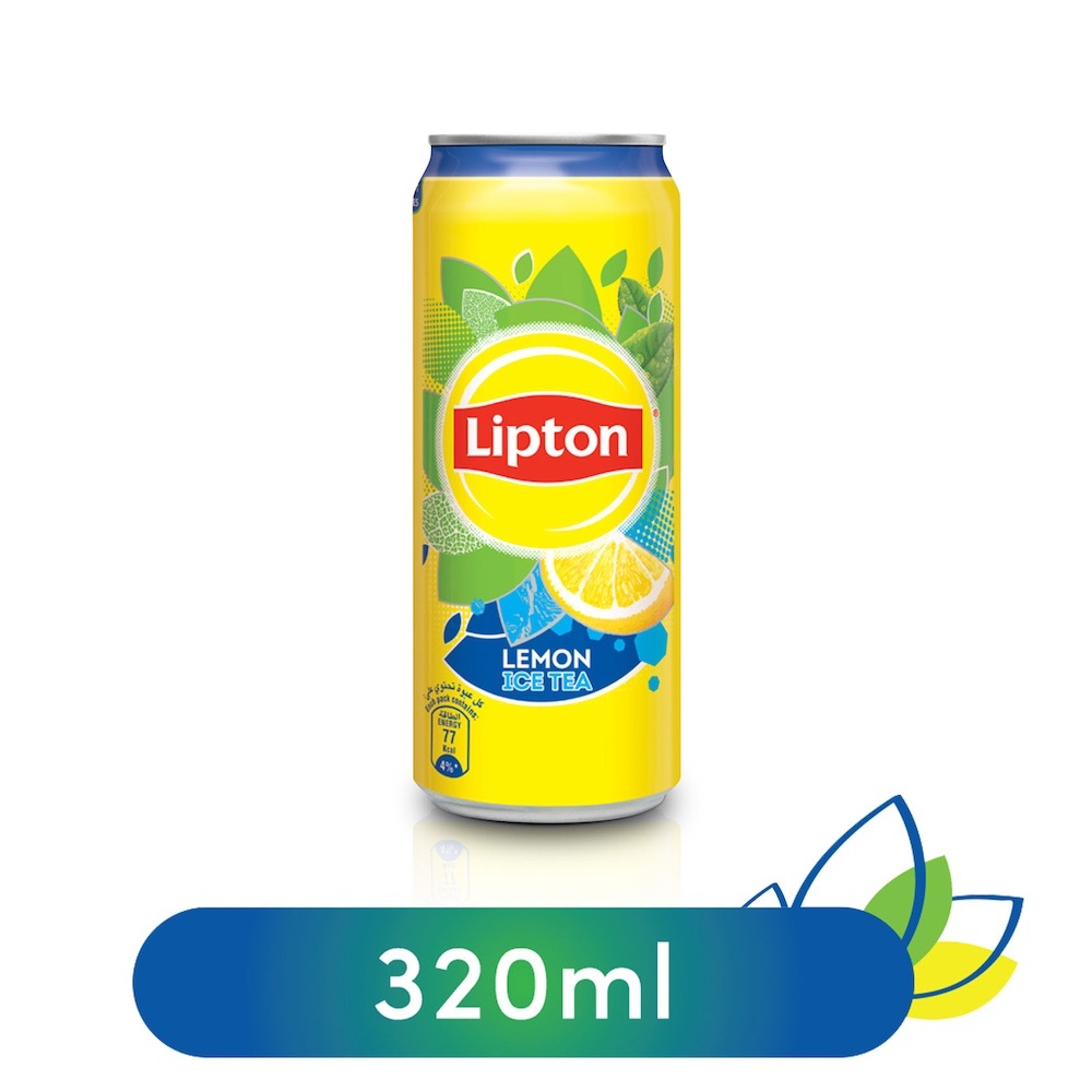 Lipton Liquid Lemon Non-Carbonated Iced Tea Drink Can - 320ml