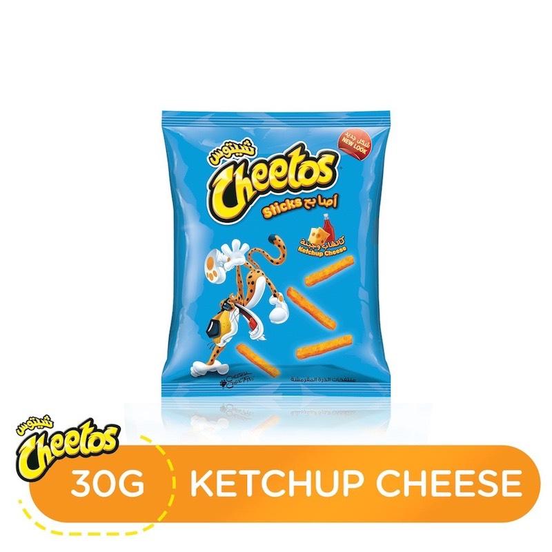Cheetos Ketchup Cheese Flavor Corn Puffs, 30 gm