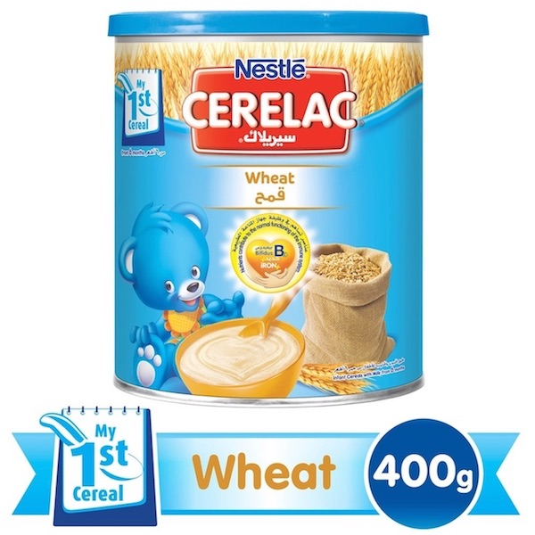 Nestle Cerelac Infant Cereal Wheat - 400g Tin, 12265529