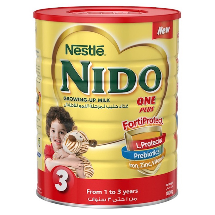 Nestle Nido One Plus Milk Powder with Protectus - 1800g Tin, 11449020